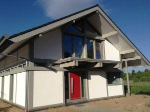 Holzskelettbauweise  Moderne Fachwerkhäuser in Holzskelettbauweise - Bilder ...