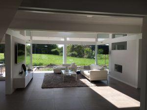 Modernes Fachwerkhaus Innenansicht Wohnzimmer